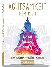 Achtsamkeitskärtchen: Achtsamkeit für dich - 50 Karma-Kärtchen: Schön gestaltete Achtsamkeitskarten in Geschenkbox zur Stressbewältigung im Alltag, Spielkartenformat
