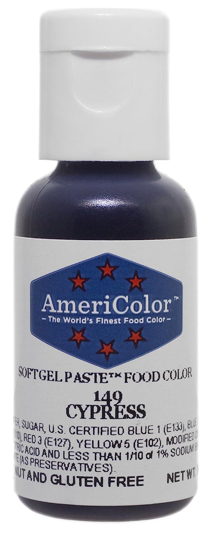 Americolor Soft Gel Paste Food Color, Cypress, .75 Ounce Bottle