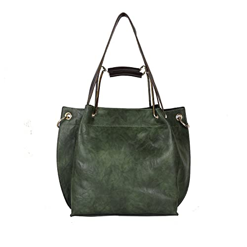 iSweven Premium PU Women s Handbag with Adjustable strap Green colour  Shoulder Bag  bd539f249b08c