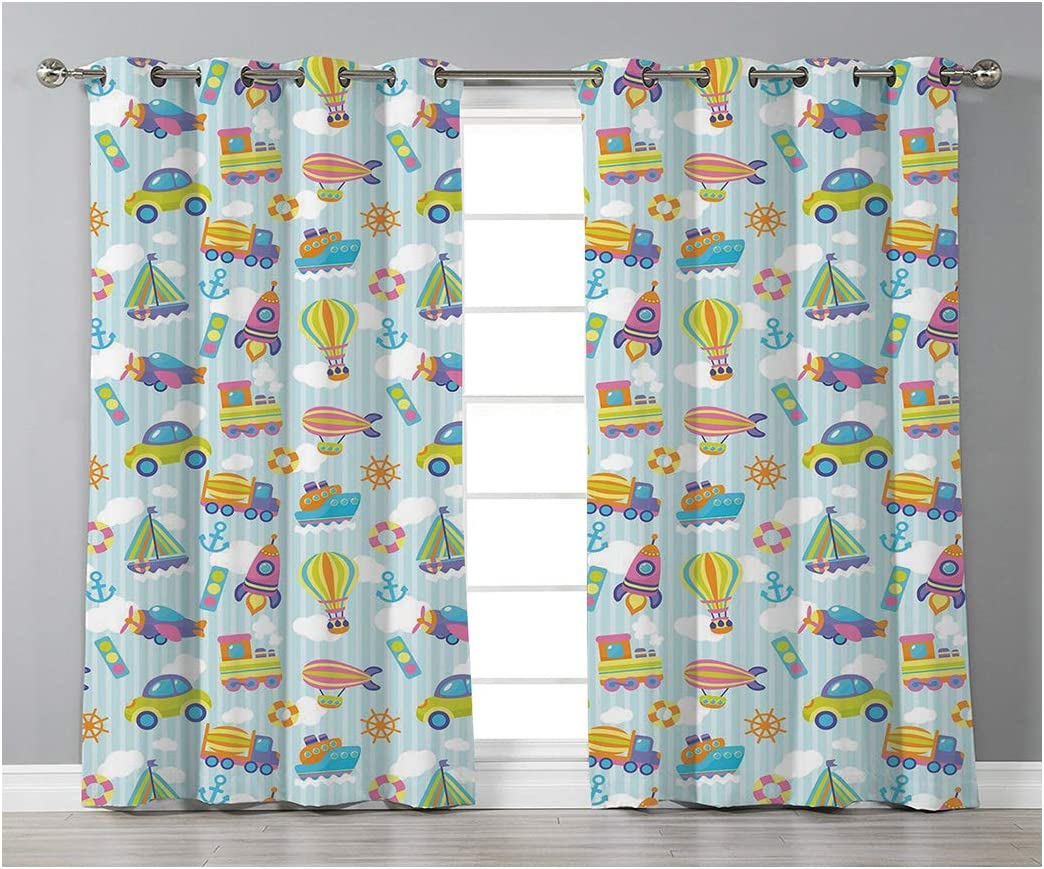 Goods247 Blackout Curtains,Grommets Panels Printed Curtains for Living Room Set of 2 Panels,55 by 95 Inch Length ,Kids