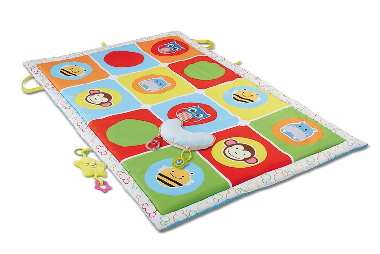 Jouet /éducatif Tapis de Jeux pour Enfants Jeu Dapprentissage Doux Rembourr/é 145*90cm Haehne B/éb/és Grand Activit/é Tapis de Jeu