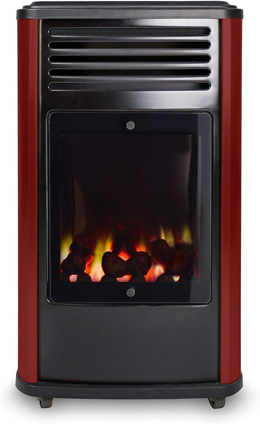 Estufa portátil a gas Manhattan Rojo Fireside 3,4 kW