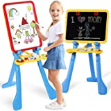 STEAM Life Art Easel for Kids | 4 in 1 Magnetic Board, Chalkboard, Painting Easel, and Drawing White Board for Kids…