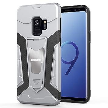 HOOMIL Funda para Samsung Galaxy S9, Silicona Resistente Carcasa para Samsung Galaxy S9 Smartphone- Plata (H3302)