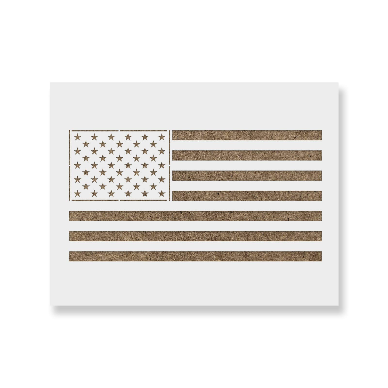 American Flag Stencil Template - Reusable Stencil with Multiple Sizes Available by Stencil Revolution