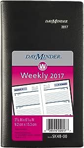 DayMinder Weekly Pocket Planner, 3 1/2 x 6 3/16, Black, 2018