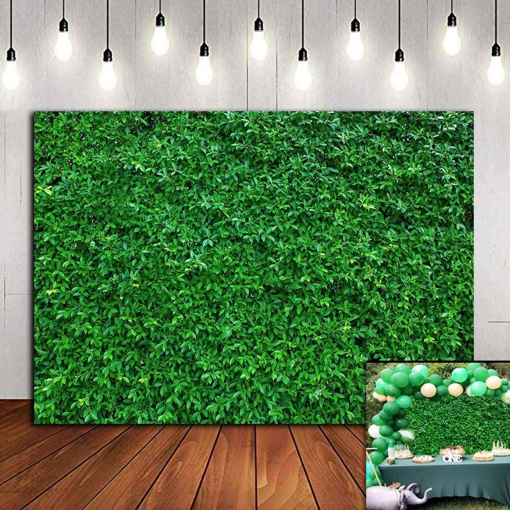 Spring Safari Grass Photography Backdrop Wedding Birthday Party Supplies Banner 7x5ft Vinyl Greenery Leaves Photo Background Newborn Baby Shower Decorations Sweet Table Photo Booths