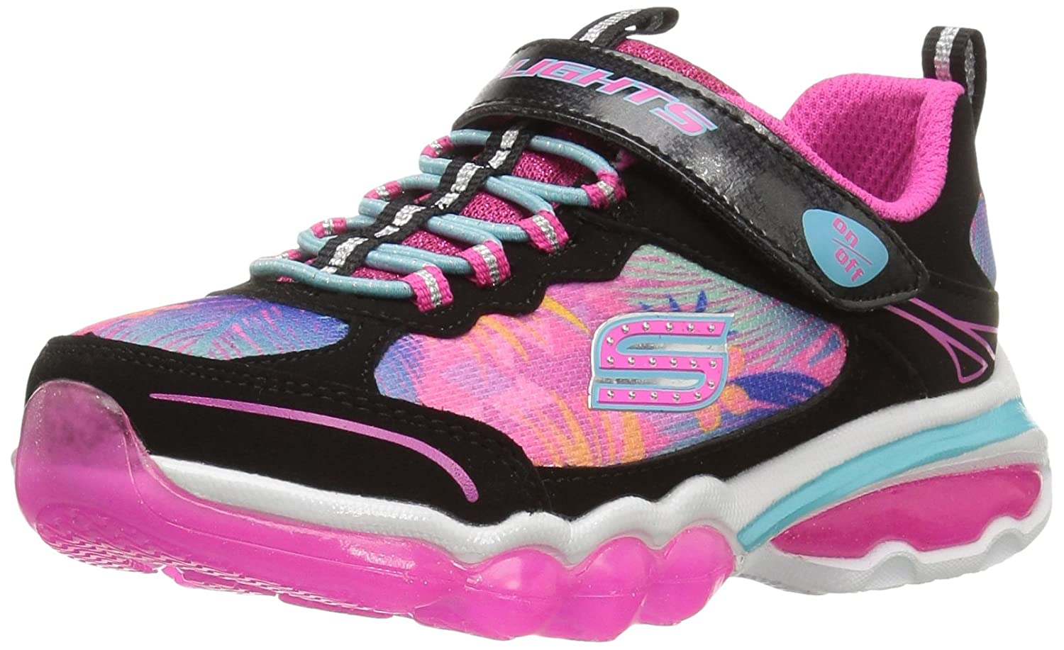 Skechers Kids Girls S Lights Light It up Sneaker