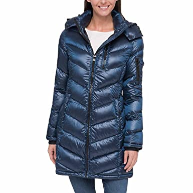 abc1454de Andrew Marc Light Premium Down Coat Blue XS at Amazon Women's Coats Shop