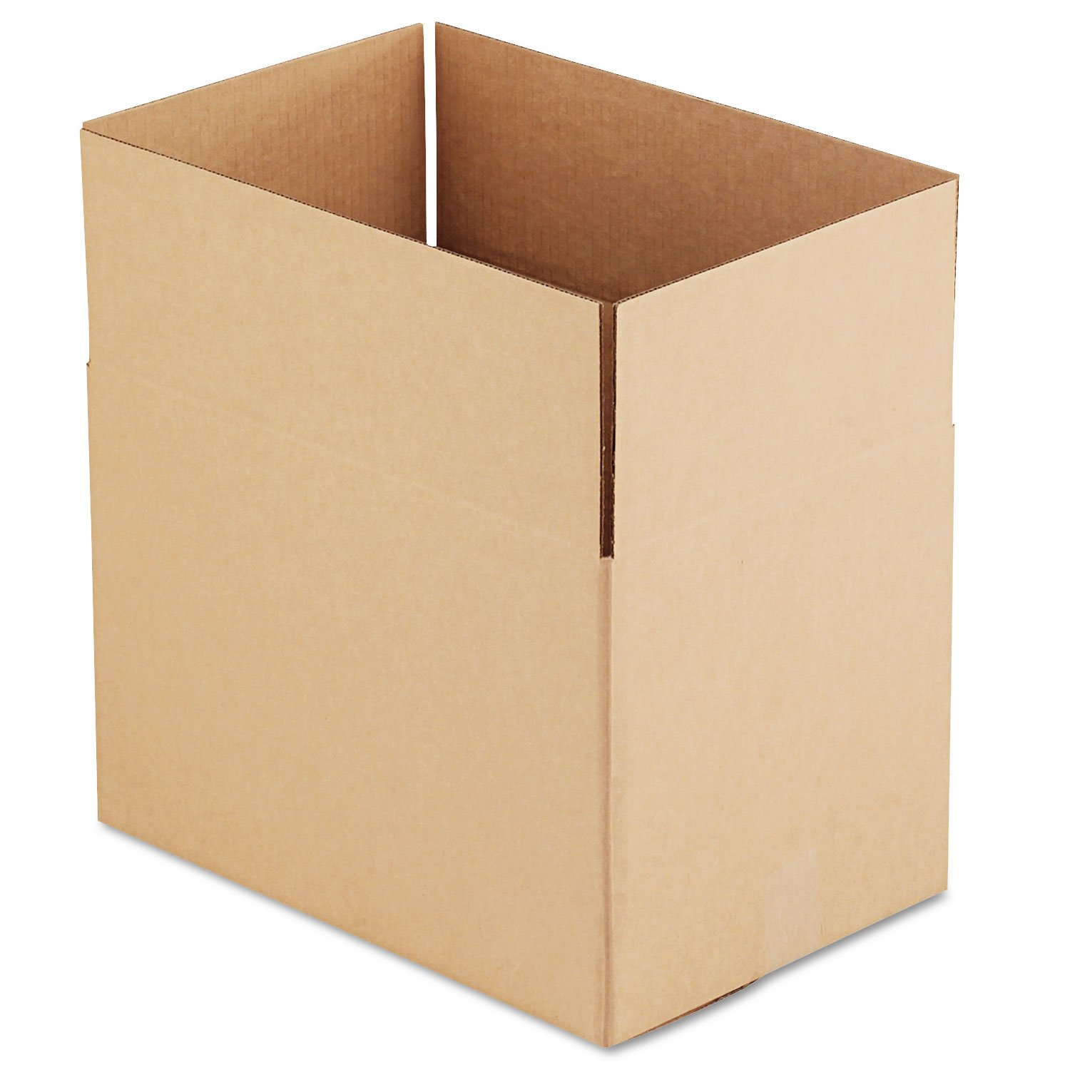 General Supply 181212 Brown Corrugated - Fixed-Depth Shipping Boxes, 18l x 12w x 12h, 25/Bundle