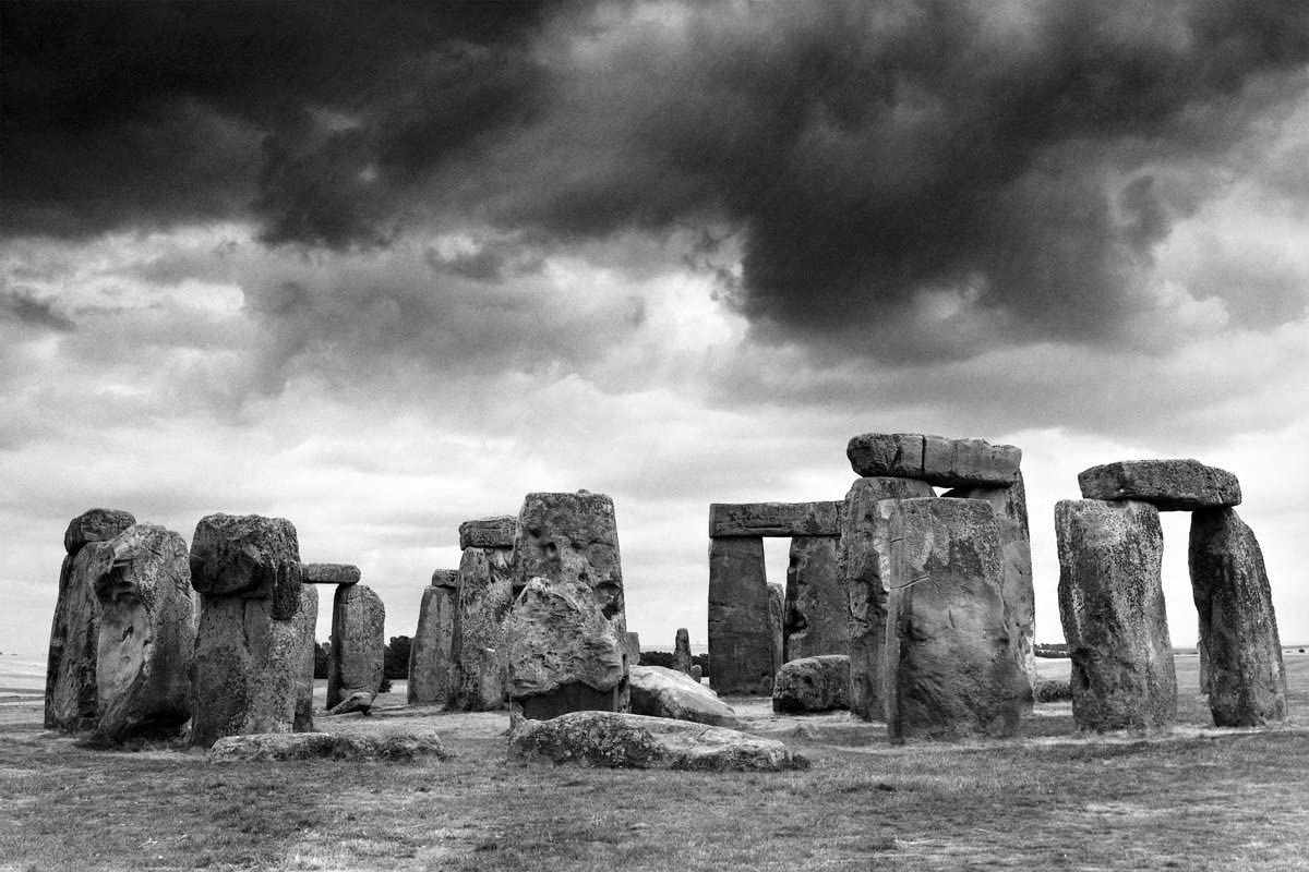 Eurographics 1751-399007 Stonehenge Stretched Canvas 24x36 B/&W