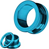 Piercingfaktor Flesh Tunnel aus Edelstahl mit Schraubverschluss - 3 bis 42mm - verschiedene Farben