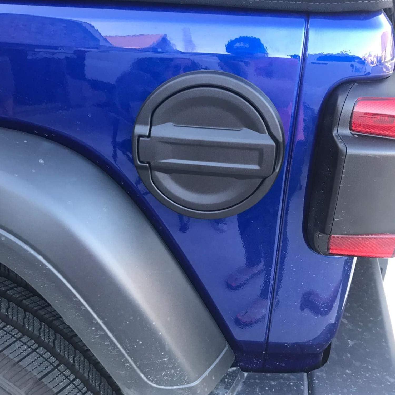 Quakeworld Gas Cap Fuel Door in Textured Black Gas Tank Cover for Jeep Wrangler JL 2-Door 4-Door 2018 2019