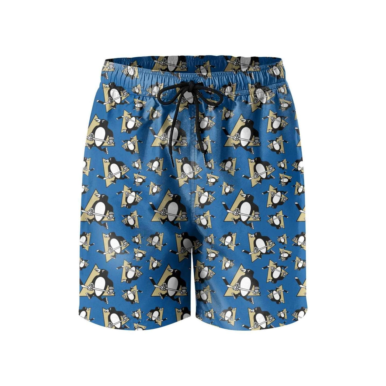Hiehdakdz Mens Beach Shorts Absorbent Vacation Beachwear