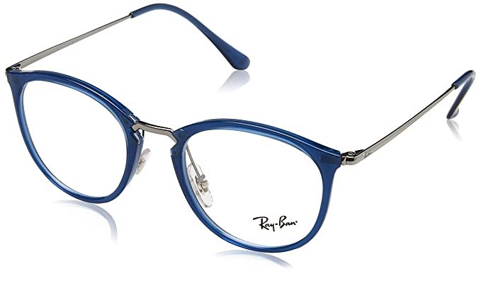 25290ef2caa1 Ray-Ban Unisex Adults' 0RX 7140 5752 49 Optical Frames, Blue (Transparente