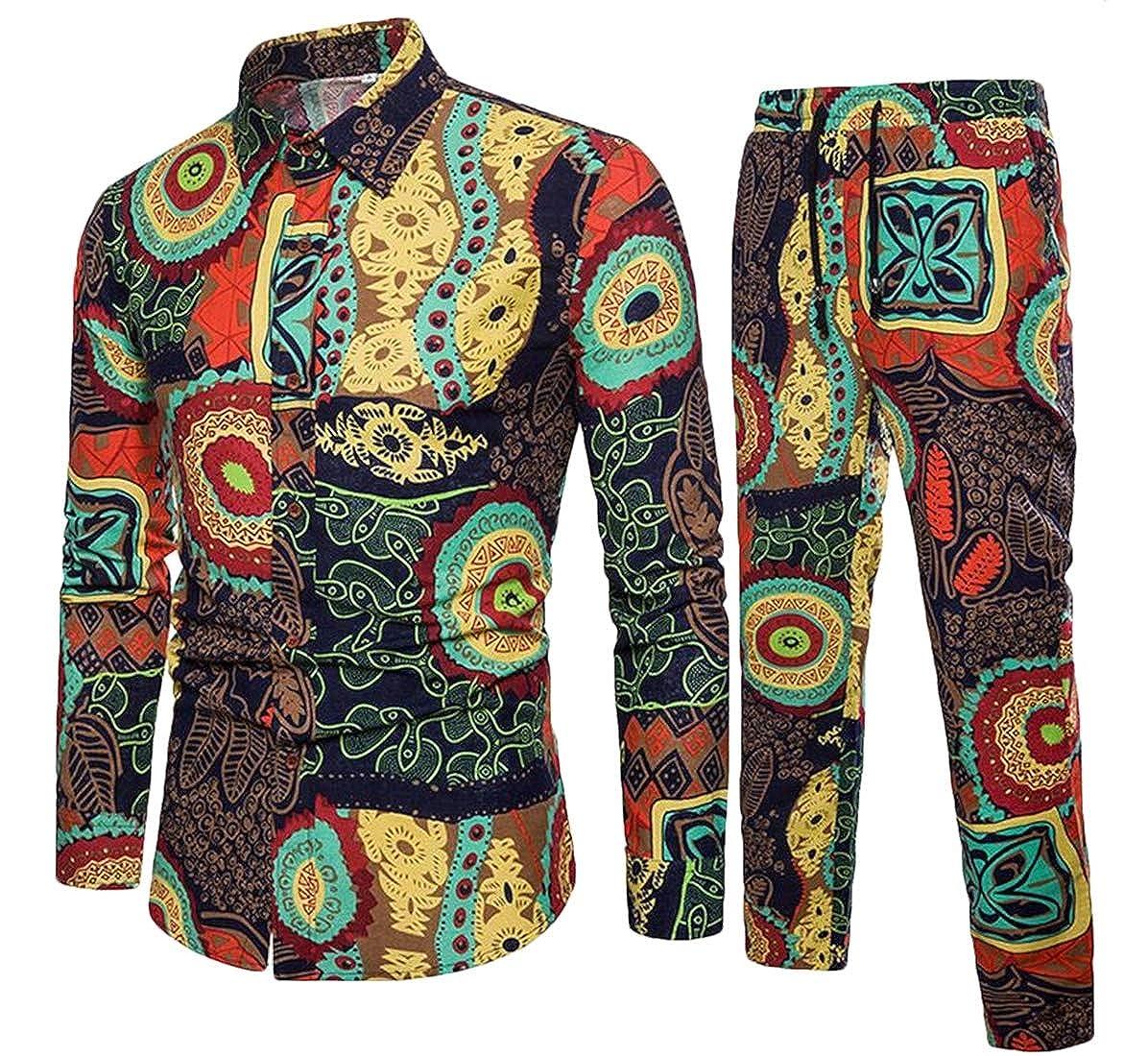 608c6f81a0 Yellow BU2H Men Clubwear Clubwear Clubwear Linen Cotton Leisure 2 Piece Set  Over SizedJogging Athletic Set 870de6