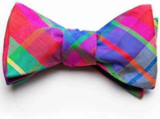 product image for Holiday Silk Bow Tie- Confetti Plaid
