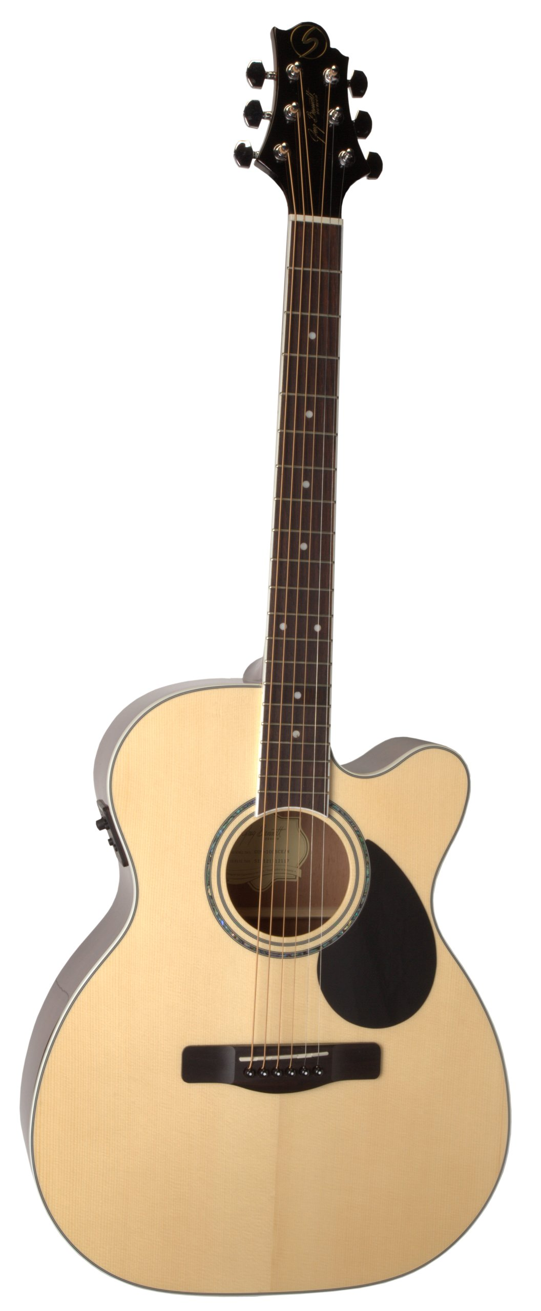 Samick Music G Series 100 GOM100SCE Orchestra Body Acoustic-Electric Guitar, Natural by Samick