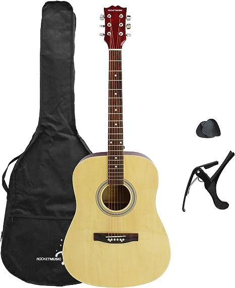 Rocket XF202AN - Guitarra acústica: Amazon.es: Instrumentos musicales