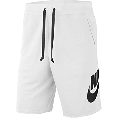 first look a few days away many fashionable Nike Mens Alumni Fleece Sweat Shorts White/Black AR2375-101 ...