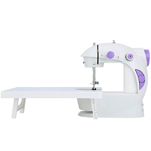 レトロな見た目が可愛い、簡単操作の電動ミシンです。初心者にも使いやすく、糸を順番にかけて針穴に糸を通すだけのセット。自動で糸巻きもしてくれます。軽量で持ち運びも便利。薄手の生地から厚手の生地までしっかりと縫うことができます。
