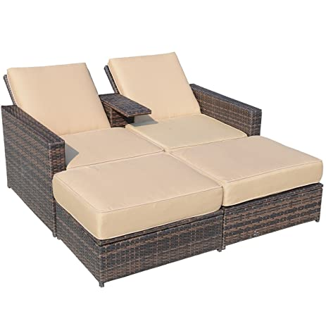 Amazon Outsunny Outdoor 3 Piece PE Rattan Wicker Patio Love