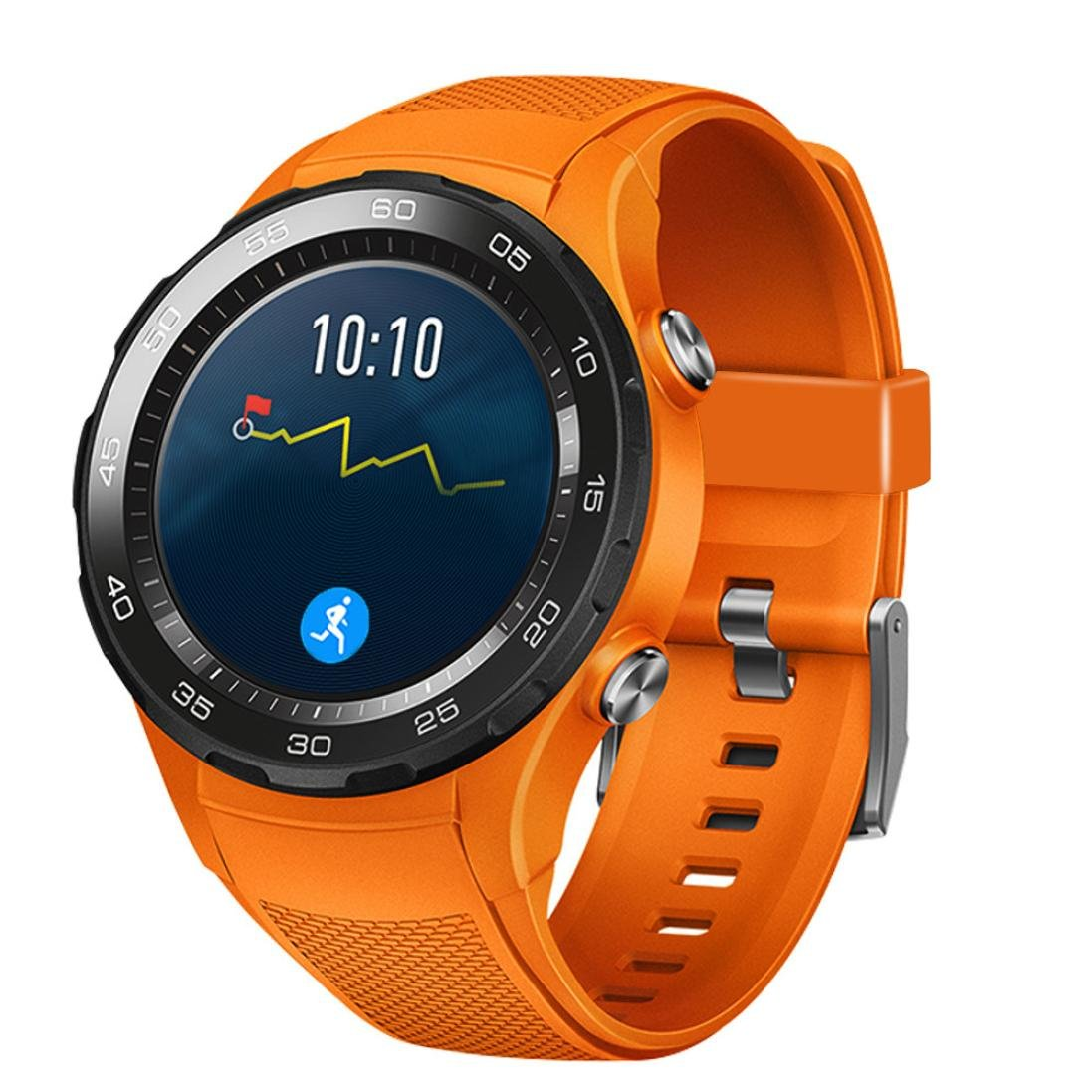 morrivoe Wtachバンド交換用アクセサリfor Huawei Watch 2、スポーツシリコンブレスレットストラップバンド  オレンジ B07BTJGVF9