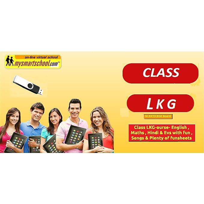 Class LKG-CBSE/NCERT  USB Pen Drive Course- Engilsh,Maths