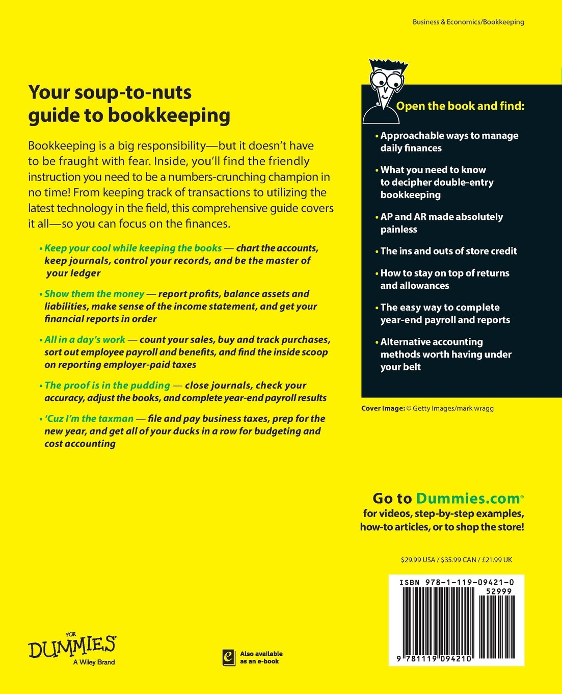 Amazon Bookkeeping All In One For Dummies 9781119094210
