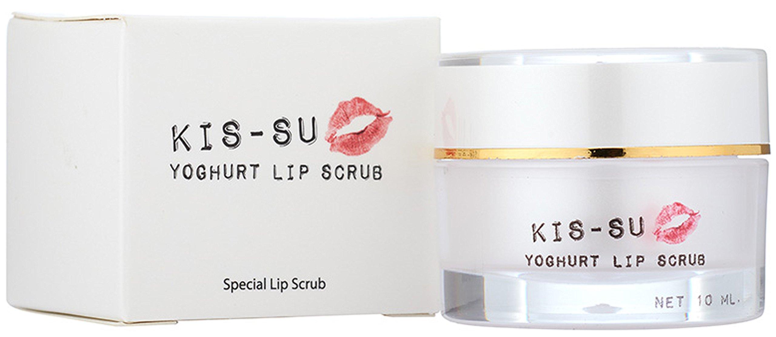 Yoghurt Sugar Lip Balm Scrub Exfoliator Extract Yogurt for dry lip - the Balm treatment with Sugar scruber + Hydrolysed Collagen and Vitamin C (0.35oz)