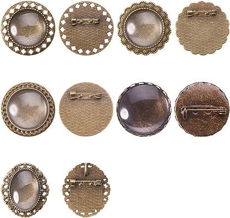 silver set of 7 Pcs PIN brooch 5 holes 5 cm