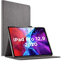 "ESR Urban Premium Folio Case for iPad Pro 12.9"" 2020, [Supports Apple Pencil 2 Wireless Charging] Book Cover Design, Multi-Angle Viewing Stand, Auto Sleep/Wake for iPad Pro 12.9"",Twilight"