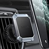 LISEN Magnetic Car Phone Holder, [2020 Upgraded] Car Vent Phone Mount with Never Fall Off Clip Fit with Vertical&Horizontal A