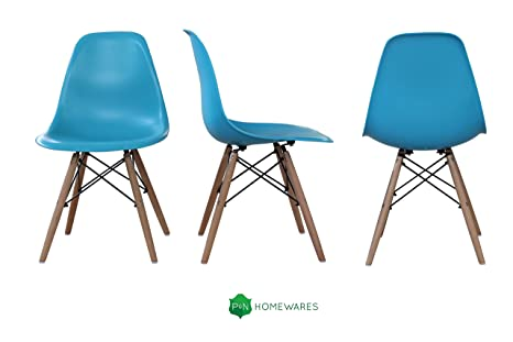 Sedie moderne charles eames in abs blue: amazon.it: casa e cucina
