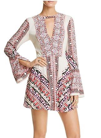 007c35af33547 Free People Tegan Border Printed Mini Dress at Amazon Women's ...