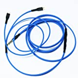 NEW NEOMUSICIA Replacement Cable Compatible with Sennheiser HD25 HD 25-1 HD25-1 II HD25-13 HD25-C Headphone, Remote Volume Control & Mic Compatible with Apple iPhone iPod ipad iOS only Blue
