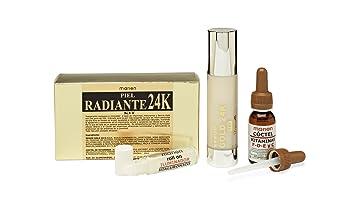 ANTIARRUGAS GOLD 24k + Vitaminas C-F-D-E + Roll On Hialuronico. KIT PIEL RADIANTE contra el