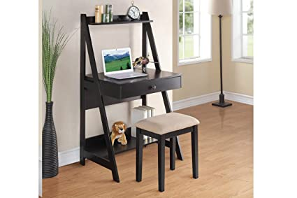 Sensational Amazon Com Writing Desk Stool Black Kitchen Dining Gmtry Best Dining Table And Chair Ideas Images Gmtryco
