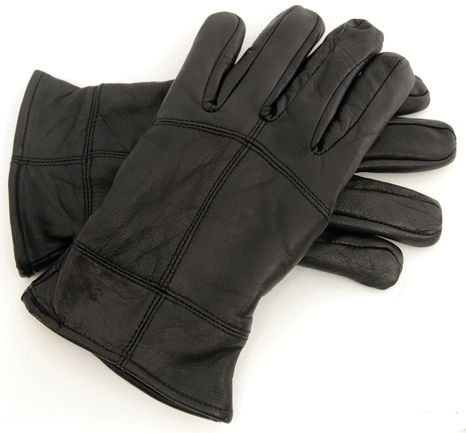 Ladies thermal leather gloves uk - Mens Thinsulate Thermal Black Sheepskin Leather Gloves Ski Warm Winter Snow Boys Gents Accessories Size Uk M L Amazon Co Uk Clothing