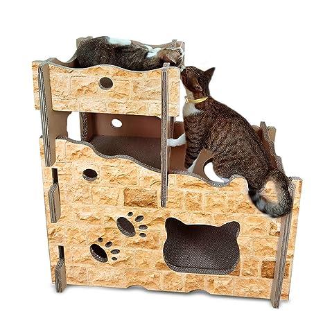 LEDU Gato Castillo Gato Casa Gato Scratch Board Cat House Gato Escalada Marco