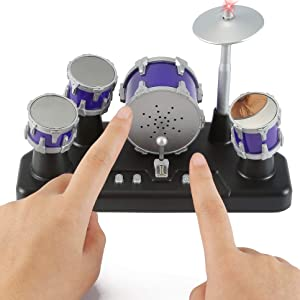 Liberty Imports Electronic Mini Finger Drum Desktop Novelty Set with Sounds and Lights