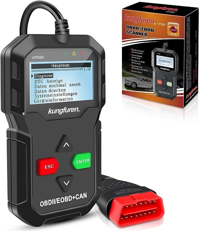 Kungfuren Obd2 Diagnosegerät Klassisch Verbesserter Universal Usb Kabel Automotor Fehler Code Scanner Diagnose Scan Werkzeug Für Alle Obdii Protokoll Auto