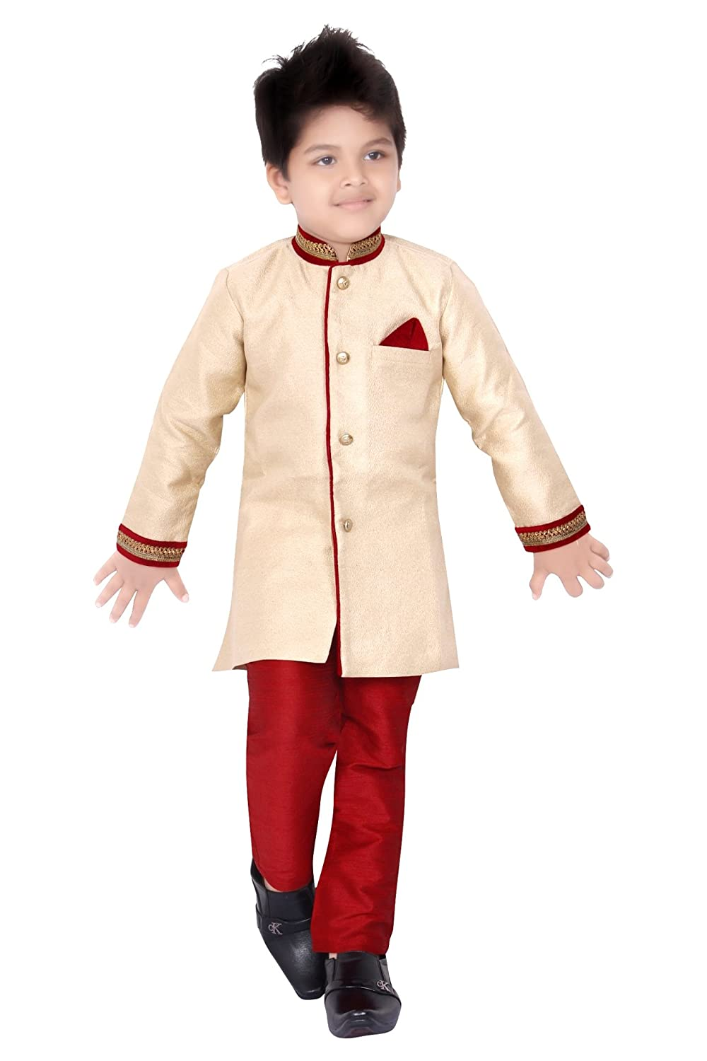 363173abcfebb Boys Sherwani Suit With Pyjama And Pant Dress Indian Wedding Party ...