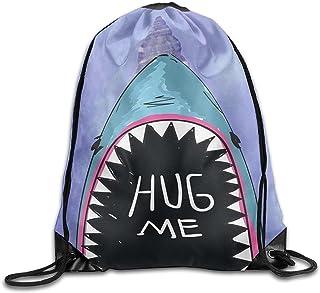 Cool Drawstring Backpack Hug Me Whale Art Design Print Drawstring Backpack Rucksack Shoulder Bags Gym Bag