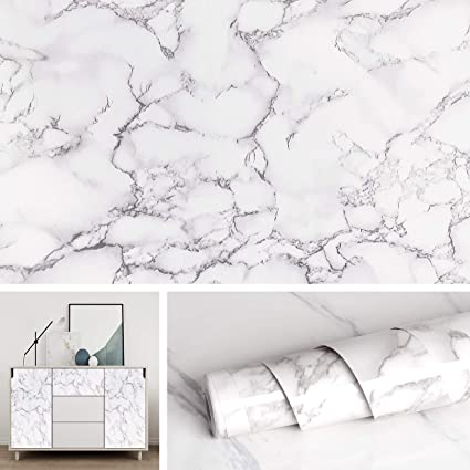 Livelynine Marble White Contact Paper For Countertops