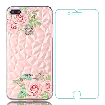 Yosemy Funda iPhone 7 Plus Silicona + Protector Pantalla ...