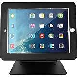 Firstand iPadスタンドホルダー iPadデスクトップ盗難防止セキュリティPOSスタンドホルダー ロックとキー付き iPad 2 3 4 iPad Air Air 2 iPad Pro 9.7インチ 360度回転 ブラック
