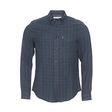 7b20c20bef Ben Sherman Mens Mens Double Cloth Tartan Shirt in Green - XS  Ben Sherman   Amazon.co.uk  Clothing