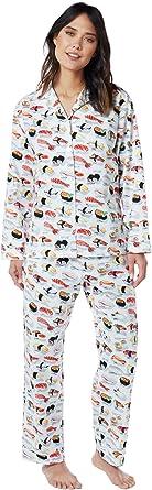 The Cat s Pajamas blanco Sushi pijama de algodón de las mujeres