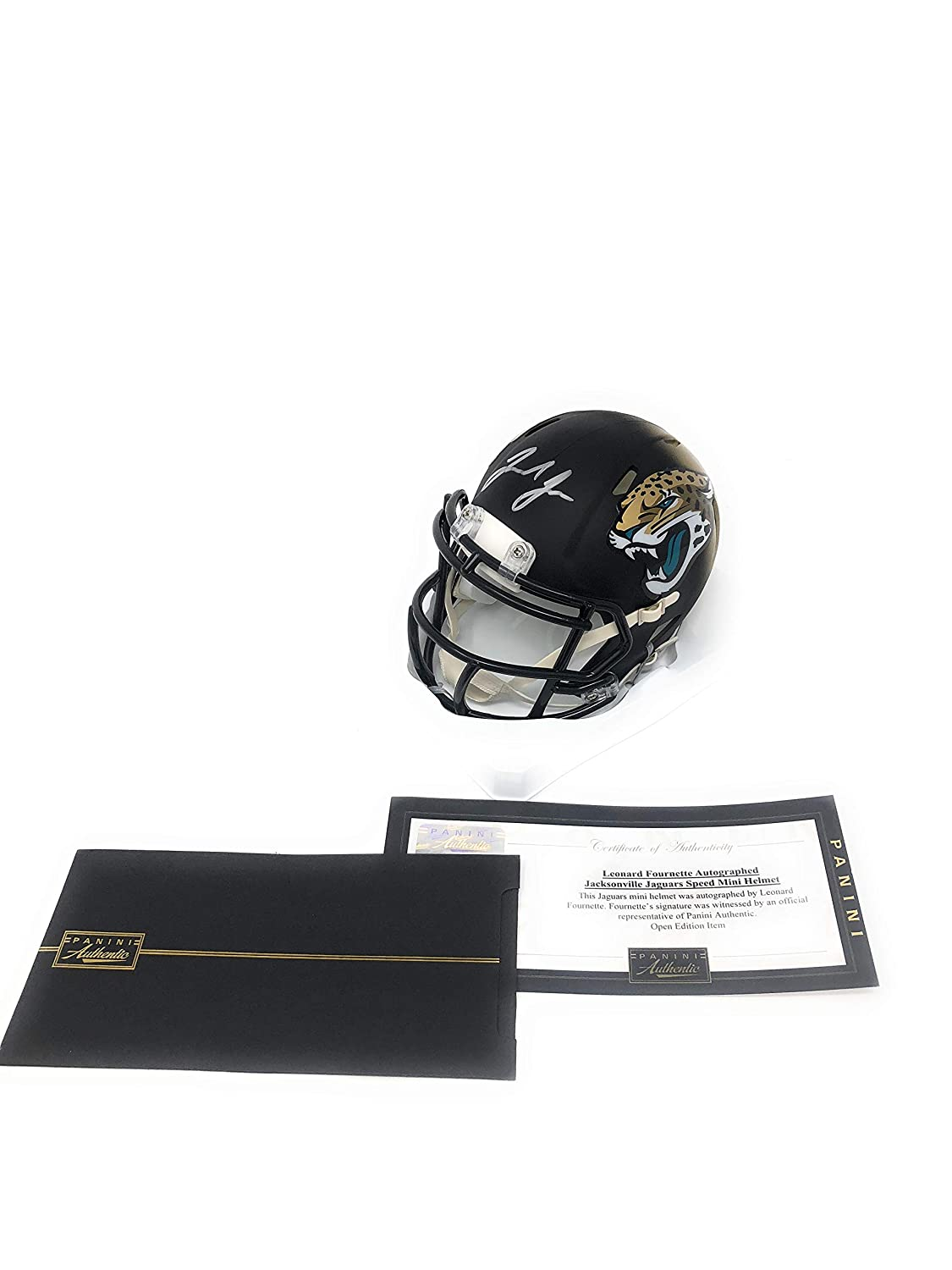 Leonard Fournette Jacksonville Jaguars Signed Autograph Speed Mini Helmet Panini Authentic Certified